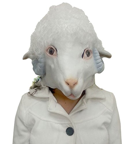 Deluxe Latex Mask - Novelty Animal Latex Head Mask by Funny Party Hats (Sheep)