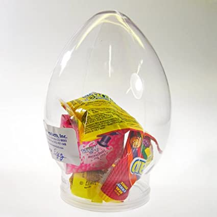 eb7c386a75f4 Amazon.com: Clear Easter Egg Shape PVC Jar - Plastic Cookie Jar ...