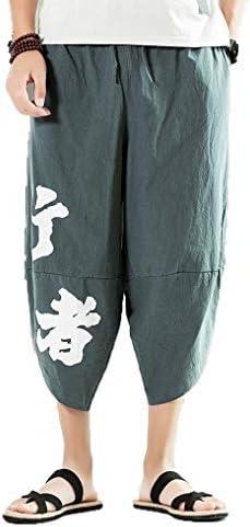 サルエルパンツ メンズ アラジンパンツ ダンス カジュアル ポケット付き ゆったり ヒップホップ クロップドパンツ スウェット コットン 無地 男性用 紳士用 大きサイズ対応 お出かけ 夏用 ユニセックス