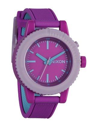 Nixon Women's A287698 Gogo Purple Rubber Purple Dial Watch