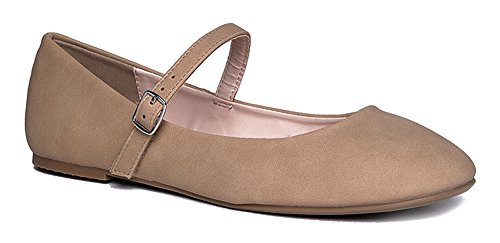 Mary Jane Ballet Flat - Quilted Comfort Casual Shoe - Easy Everyday Velcro Slip On - Lottie by J - Arizona Outlets Best In