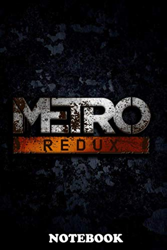 "Notebook: Metro Redux , Journal for Writing, College Ruled Size 6"" x 9"", 110 Pages"