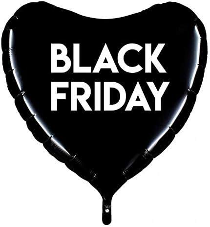 Globos Black Friday Foil Corazon 91cm: Amazon.es: Juguetes y juegos