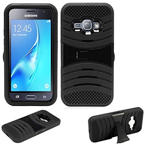 reputable site c9dc3 f6c52 Phone Case for Samsung Galaxy-Express-3 (at&T) / Cricket Wireless Samsung  Galaxy-Amp-2 4g LTE Rugged Heavy Duty Armo Cover Stand (Armor Black ...