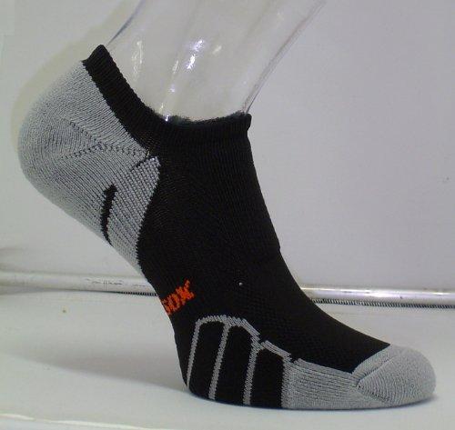 "Vitalsox Running Ghost ""No Show"" Light Weight Performance Arch Support Socks- 1 Pair, Black, Medium VT0310"