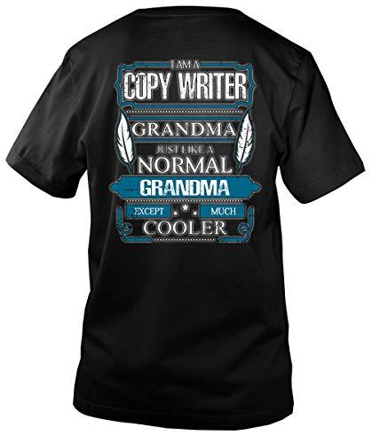 I Am A Copy Writer Grandma Men's V-Neck Tee, I Love Writer T Shirt-Men V-Neck (M, Black)