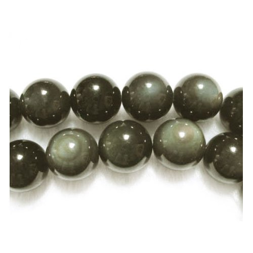 16 Inch Strand Golden Rainbow Obsidian 10mm Rounds (At Least 39 Beads) GS2886-4
