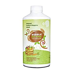 BubbleNut Wash- Natural & Organic Fruits and Vegetables Wash Liquid , Herbal -Soapnuts,Tulsi,Neem Sanitizer, Cleaner for…