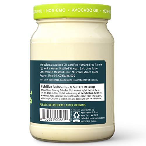 Sir Kensington's Avocado Oil Mayonnaise, 16 Fl Oz (Pack of 1)