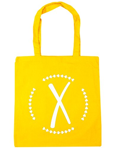 HippoWarehouse - Bolsa de playa de algodón  Mujer, gris claro (Gris) - 13566-TOTE-Light grey amarillo