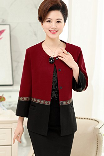 Amazon Com Middle Aged Women S Autumn Jacket Suit 40 Years Old 50
