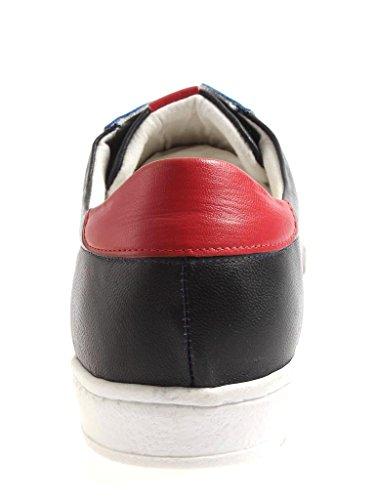 Kathamag Baskets Sportif à Lacets Chaussures en Cuir Cuir Chaussures Décontractées lo164 Bleu TZNZR0Zt