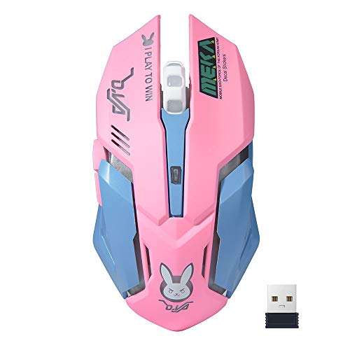 Gaming Mouse Wireless, USB Optical Computer Mice, DPI Adjustable 800/1200/1600, Ergonomic Gamer Laptop PC Mouse with 3 Scroll Whee for Windows XP, Vista, Win 7, Win 8, ME,2000 and Mac OS ()