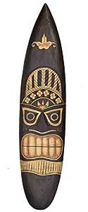 Tiki Surfboard 100cm Hawaii Dekoration zum Aufhängen Lounge Style Surfbrett...