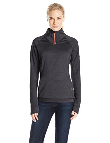 Champion Women's Performance Fleece Quarter-Zip Jacket, Black Space Dye/Black, Large Dye Barrel Bags