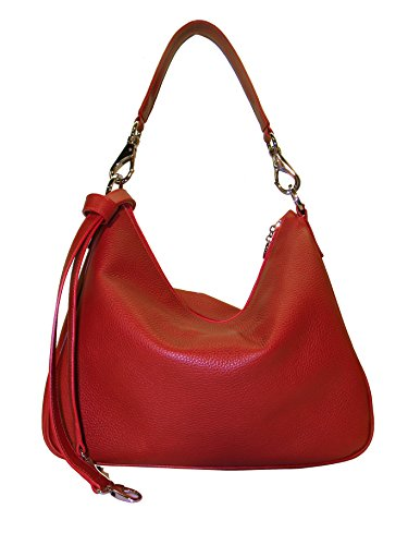 Artigiana Pelletteria Bag color Pelletteria red Firenze Leather Shoulder Artigiana Viviani ZFFqwEr