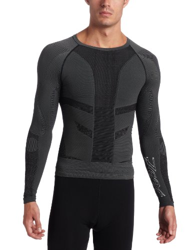Zoot Compressrx Ultra Recovery Long Sleeve Top, Char, 3