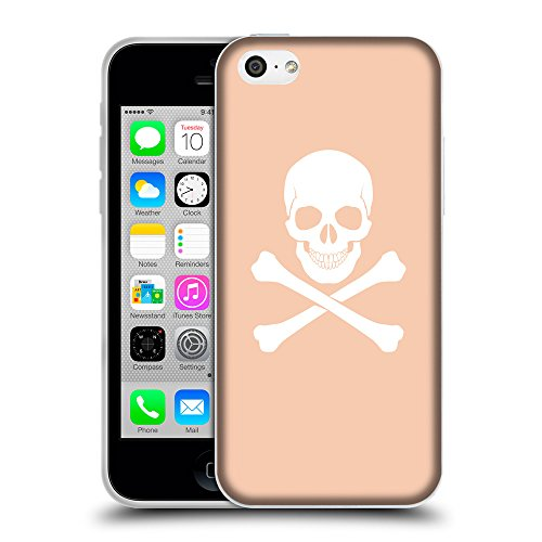 GoGoMobile Coque de Protection TPU Silicone Case pour // Q09470604 Os croisés 2 Abricot // Apple iPhone 5C