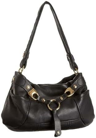 B. MAKOWSKY Tempe E/W Shoulder Bag,Black,one size