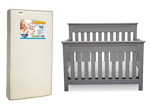 Dеltа Childrеn Deluxe Premium Collection Chalet 4-in-1 Convertible Baby Crib Grey Decor Comfy Living - Chalet Deluxe