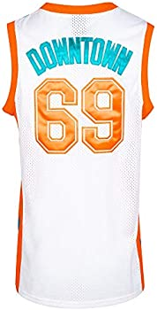 Stitched Letters and Numbers MOLPE Mens Downtown 69 Flint Tropics Basketball Jersey S-XXXL White,90S Clothing for Men