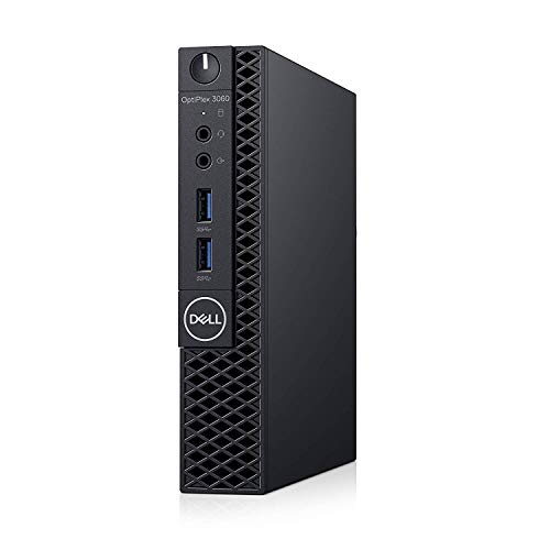 Optiplex 3060 Micro PC Desktop, Intel Core i5-8500T 2.1GHz 6-Core (Hexa Core), 8GB DDR4 RAM, 256GB SSD, Windows 10 Pro, 3 YR Warranty
