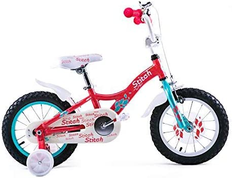 JOYSTAR 14 Inch Kids Bike for 3-5 Years Old Girls, Lightweight Aluminum Alloy Kids Bicycle with Training Wheels and Hand Brake for 36-40 Tall Toddlers