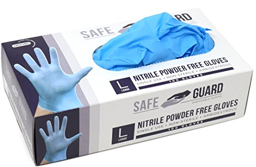 sposable Gloves, Powder free, Food Grade Gloves, Latex Free, 100 Pc. Dispenser Pack, Large Size, Blue ()