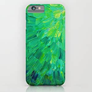Society6 - Sea Scales In Green - Bright Green Ocean Waves Bea¡ iPhone 6 Case by EbiEmporium