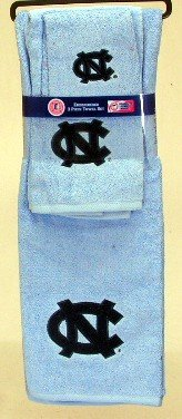 The Northwest Company North Carolina Tar Heels 3 PC Embroidered Towel Set