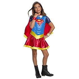 - 41Fr5yKO5qL - Rubie's DC Super Hero Girls Hoodie Dress Childrens Costume, Supergirl, Small