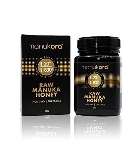 Manukora UMF 20+/MGO 830+ Raw Mānuka Honey (500g/1.1lb) Authentic Non-GMO New Zealand Honey, UMF & MGO Certified, Traceable from Hive to Hand by Manukora (Image #1)