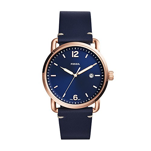 The Commuter Three-Hand Date Blue Leather Watch ()