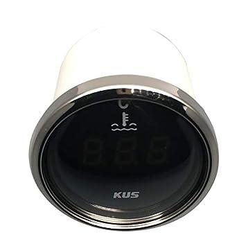 Kus digitale temperatura dell acqua calibro misuratore 25/ 5,1/cm /120/℃ con retroilluminazione 12/V//24/V 52/mm