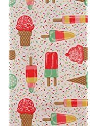 Mainstream Popsicles, Ice Cream Cones and Sprinkles Vinyl Flannel Back Tablecloth (52