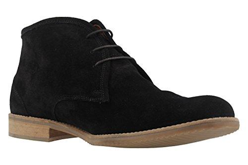 Manz - Zapatos de cordones de Piel para hombre negro negro