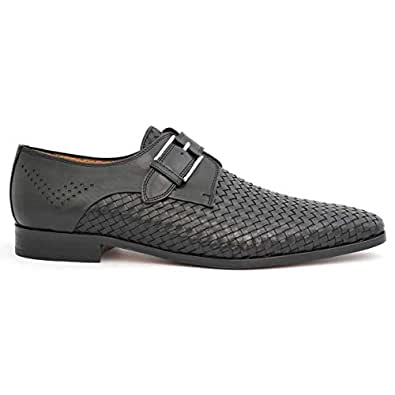 Calce Trendy Black Leather Formal Men Formal Shoes