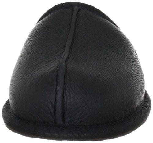 UGG M Scuff Leather 1001546 Herren Pantoffeln Schwarz (Black)