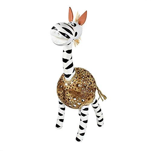 AeraVida Lovely Zebra Coconut Shell Handmade Figurine Sculpture