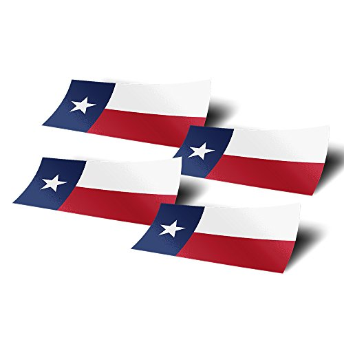 Desert Cactus Texas TX 4 Pack of 4 Inch Wide State Flag Stickers Decal for Window Laptop Computer Vinyl Car Bumper Scrapbook ()