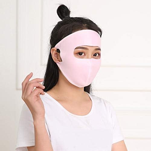 Spachy Máscara Facial de protección UV para Mujer, máscara de Cara Completa de Verano, máscara de protección Solar para Deportes al Aire Libre, Rosa, Tamaño Libre: Amazon.es: Hogar