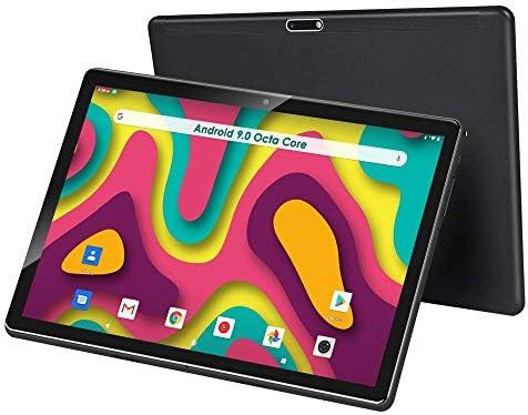 10 inch Tablet, Android 9.0, 32GB Storage, Octa-Core Processor, 1920×1200 IPS HD Display, 5G Wi-Fi(Black)