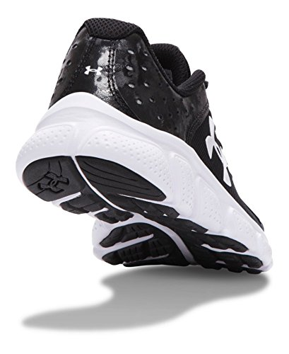 889362256306 - Under Armour Boys' Pre-School Assert 6 Running Shoes, Black/White V1, 3 carousel main 2