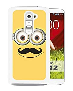 Fashionabe LG G2 Case ,Popular And Unique Designed Case With Despicable Me with Mustache 48 White LG G2 Cover Phone Case