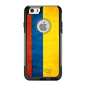 """CUSTOM Black OtterBox Commuter Series Case for Apple iPhone 6 (4.7"""" Model) - Colombia Old Flag"""