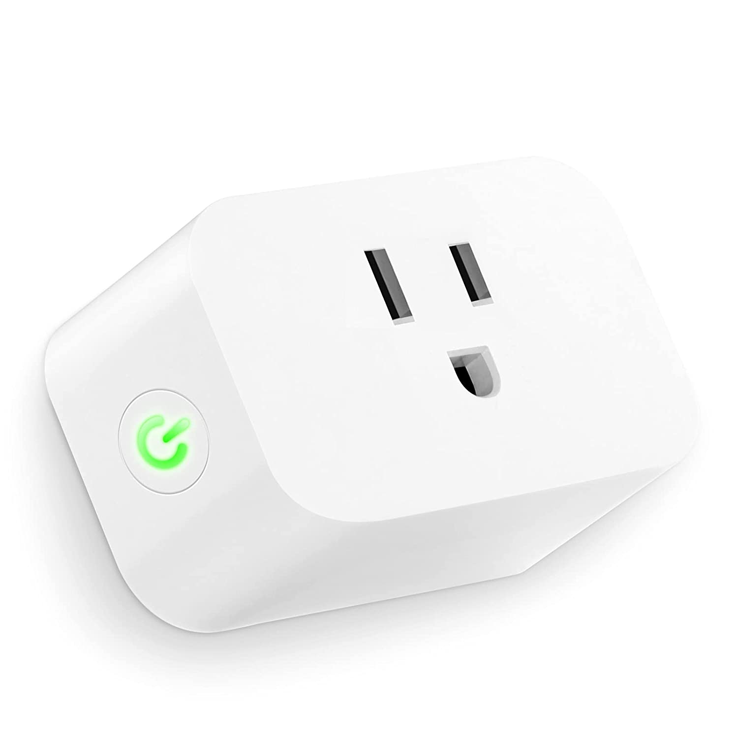 CIBOU Smart Plug,Work with amazon Alexa,Google Home Assistant Nest mini,compatible wireless&bluetooth,Voice and Android&IOS APP Control to any Outlets,WiFi Switch,Remote Socket,Timer Device,15 Amp,FCC