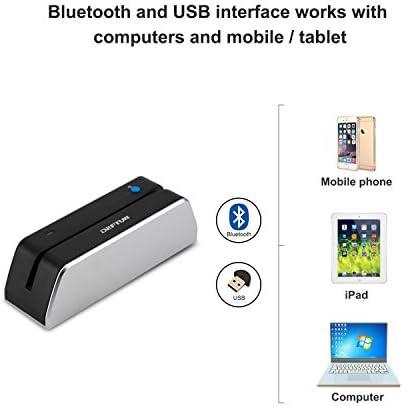 MSRX6BT Magnetic Stripe Card Reader Writer Encoder Mini Portable MSR-X6BT Deftun Bluetooth MSR-X6 BT