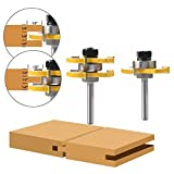 """WREOW Tongue and Groove Router Bit 1/4"""" Shank"""