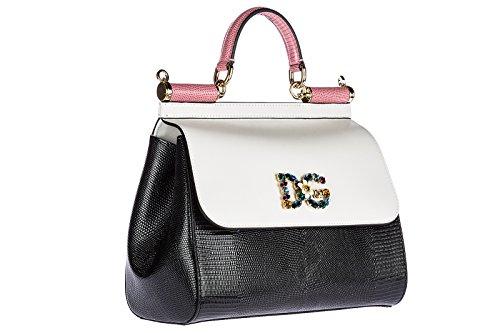 Dolce femme Gabbana main sac amp; blanc à cuir en sicily XUr6qXx5nw