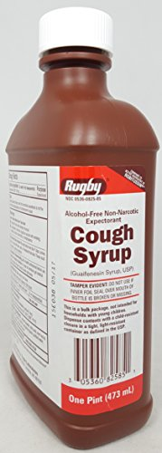 Rugby® Cough Syrup Guaifenesin 100mg/5mL, 480 mL Per Bottle (3 Bottles) (Ml Syrup 5)